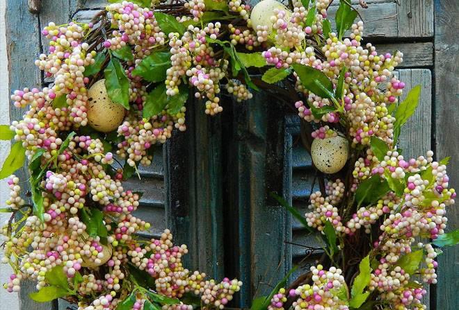 Пасхальный венок – лучшее украшение к празднику
