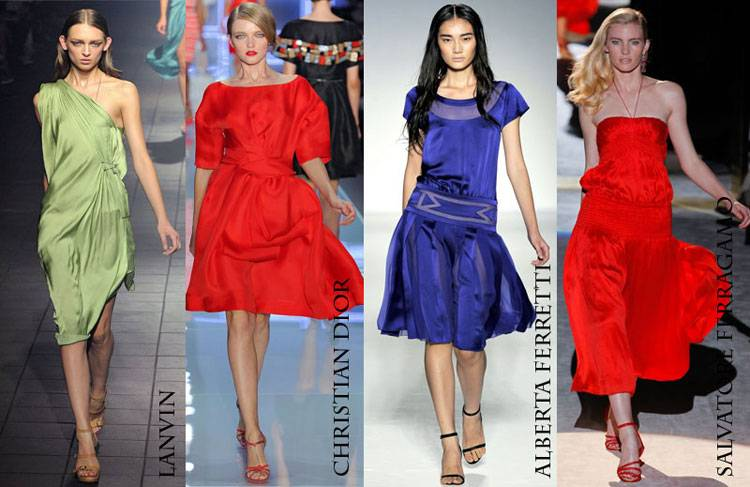 Выбираем модное коктейльное платье весна-лето 2012
