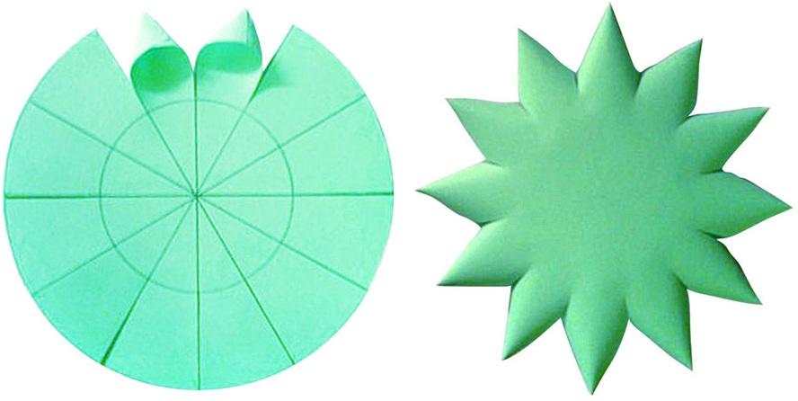 украшение - елка из бумаги