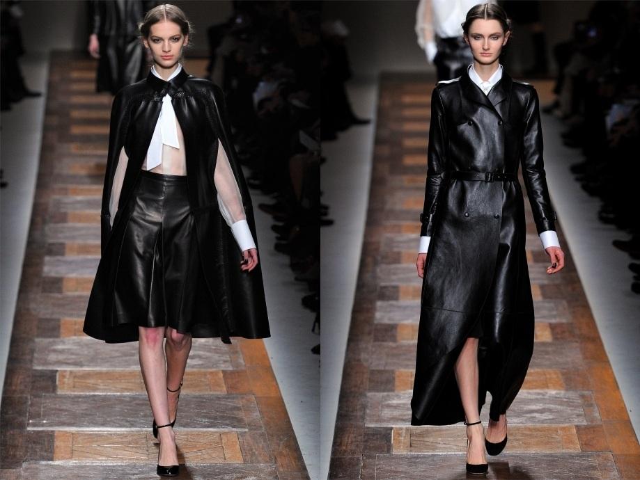 Перчатки, сумки, обувь, брюки и тренч - все это из кожи.  Именно такие вещи мировые дизайнеры предлагают носить в...
