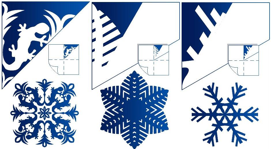 Как сделать снежинку из бумаги своими руками шаблон