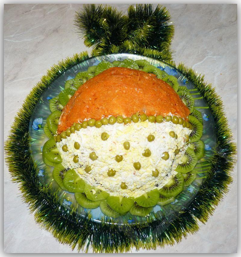 Салат елочный шар рецепты