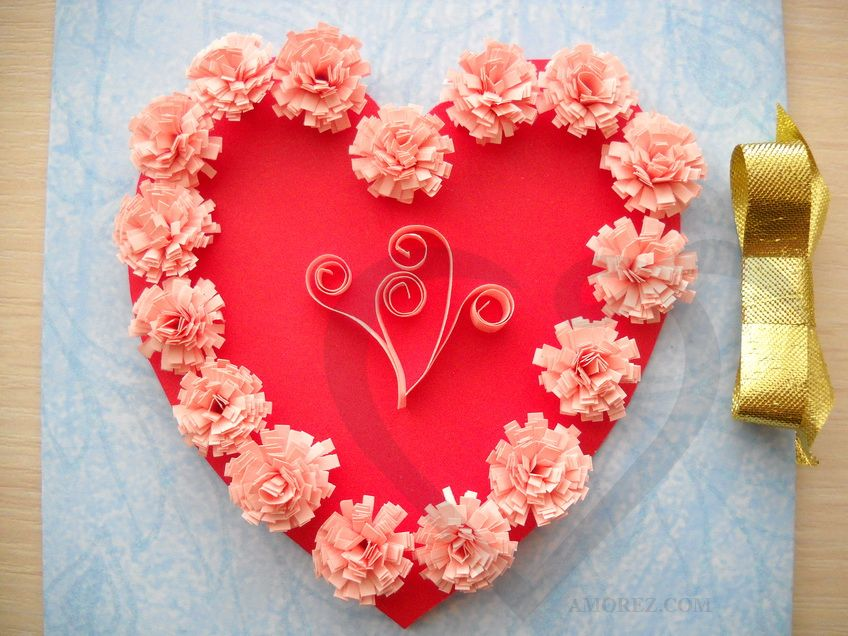 Валентинка сердечко своими руками