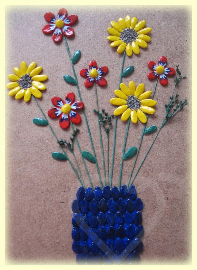 Поделки из семян и круп своими руками фото