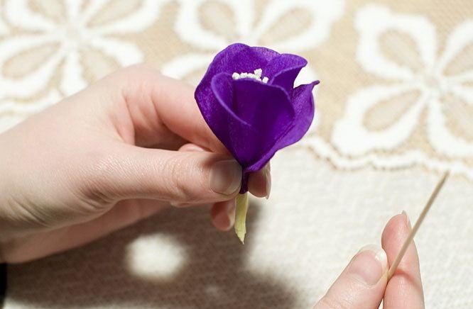 Как сделать крокусы своими руками из гофрированной бумаги своими руками