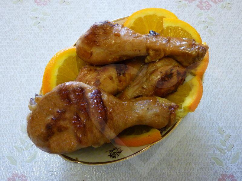 куриные ножки в апельсиновом соусе