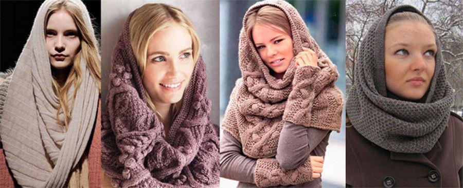 Модные вязаные шарфы своими руками фото