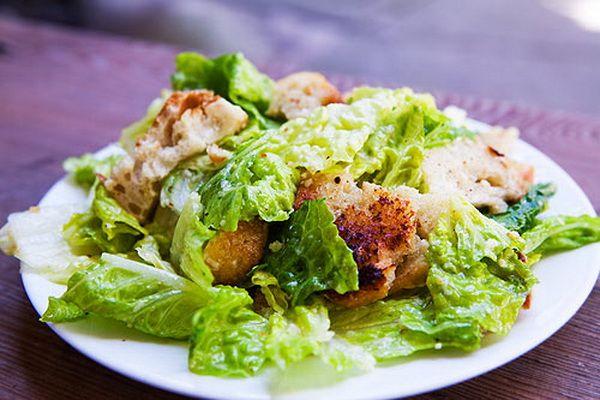 Постный салат «Цезарь»