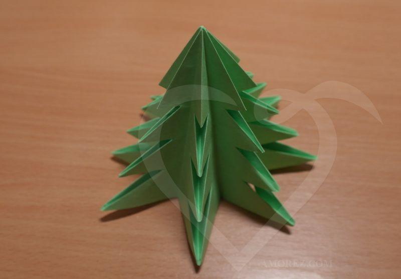 Объемная елка своими руками мастер класс