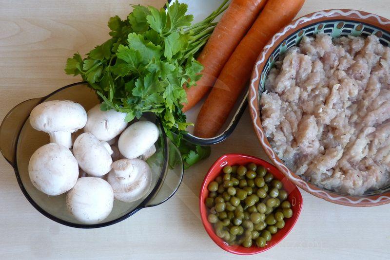 Мясной рулет, ингредиенты