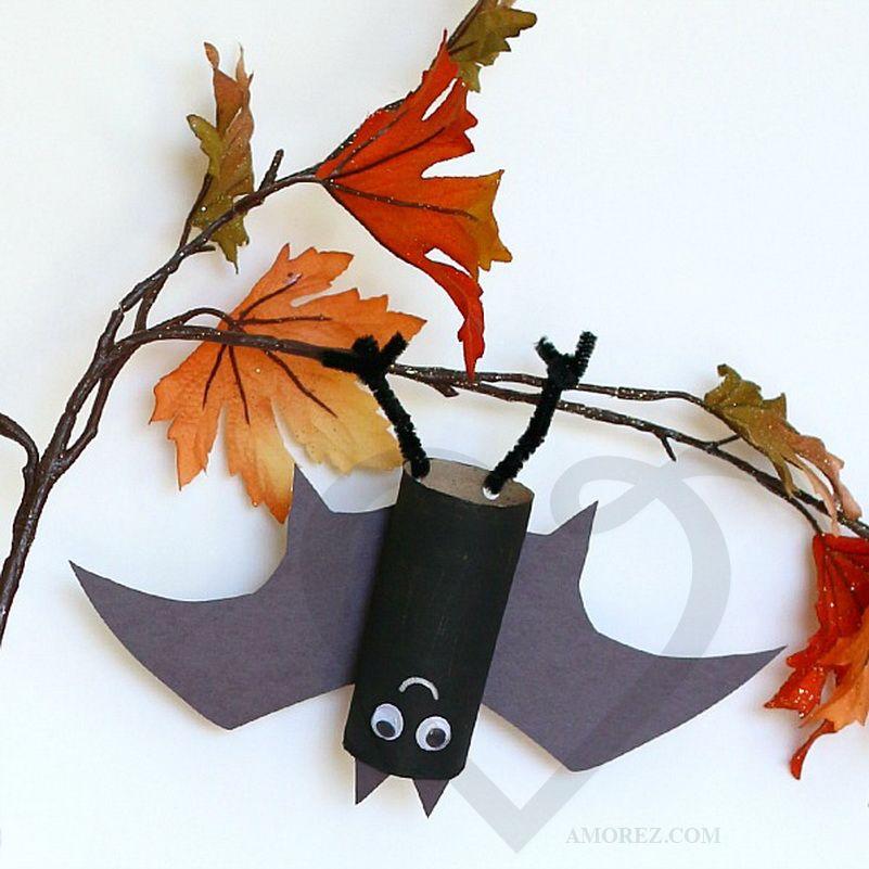 Летучая мышь из листьев поделки